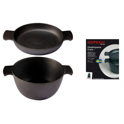 Zestaw dwóch naczyń Skeppshult Master (garnek + patelnia do omletów)