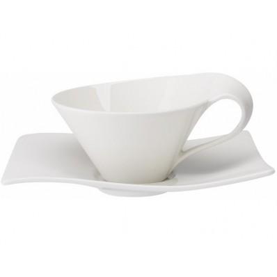 Filiżanka do herbaty ze spodkiem Villeroy & Boch NewWave, 200 ml