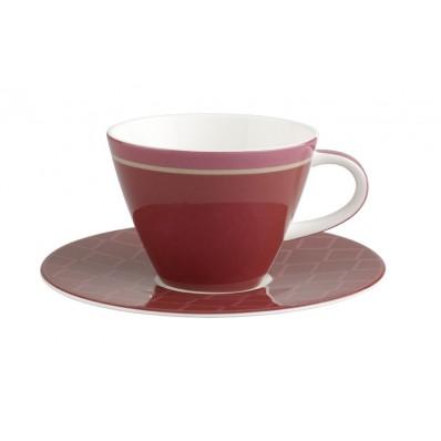 Filiżanka do kawy ze spodkiem Villeroy & Boch Caffe Club Uni berry, 0,22 l