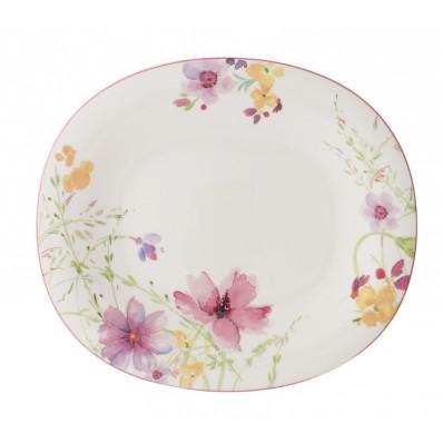 Owalny talerz obiadowy Villeroy & Boch Mariefleur Basic, 25 x 29 cm