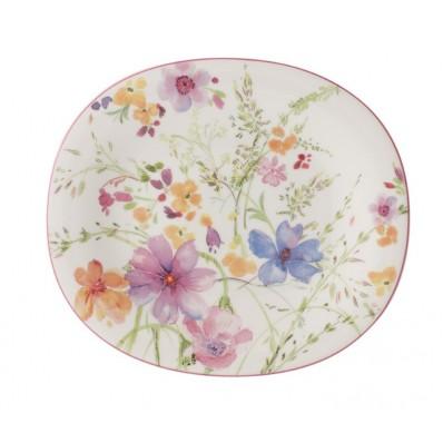 Owalny talerz sałatkowy Villeroy & Boch Mariefleur Basic, 23 x 19 cm