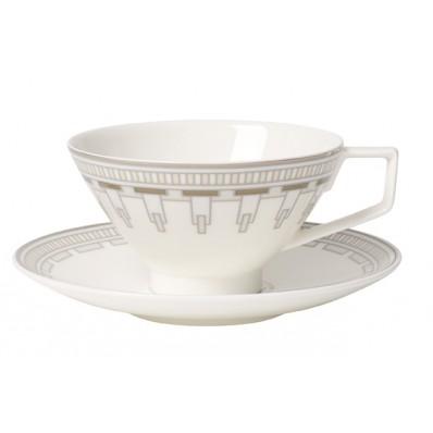 Filiżanka do herbaty ze spodkiem Villeroy & Boch La Classica Contura, 240 ml