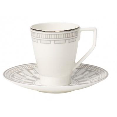 Filiżanka do espresso ze spodkiem Villeroy & Boch La Classica Contura, 100 ml