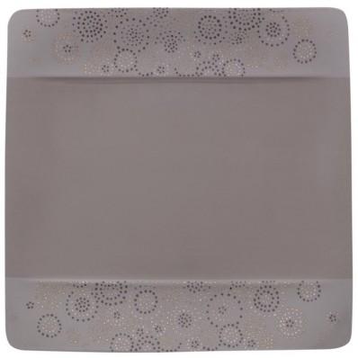 Talerz sałatkowy Villeroy & Boch Modern Grace Grey, 23 x 23 cm, szary
