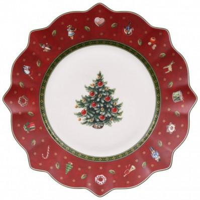Talerz śniadaniowy Villeroy & Boch Toy's Delight czerwony, 24cm