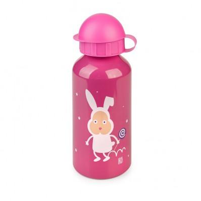 Iris - Butelka na napoje dla dzieci- królik,różowa
