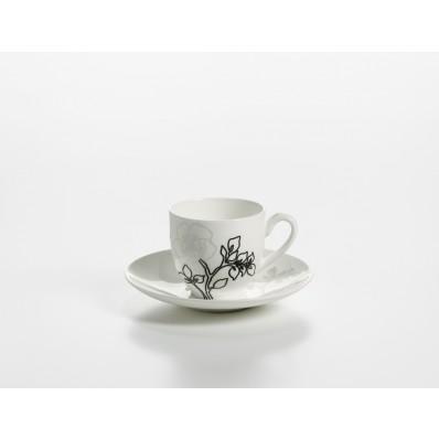 Filiżanka do espresso z podstawkiem Maxwell & Williams Moon Shadow, 100 ml