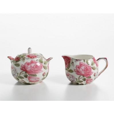 Zestaw do mleka i cukru herbaciana róża Maxwell & Williams Royal Old England