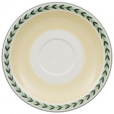 Spodek do filiżanki do białej kawy Villeroy & Boch Charm & Breakfast French Garden, 20 cm