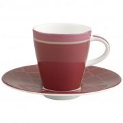 Filiżanka do espresso ze spodkiem Villeroy & Boch Caffe Club Uni berry, 0,1 l