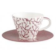 Filiżanka do kawy ze spodkiem Villeroy & Boch Caffe Club Floral berry, 0,22 l