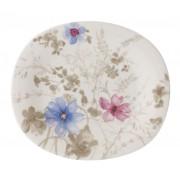 Talerz sałatkowy owalny Villeroy & Boch Mariefleur Gris, 23 x 19 cm