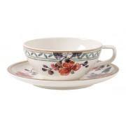 Filiżanka do herbaty ze spodkiem Villeroy & Boch Artesano Provencal Verdure, 240 ml