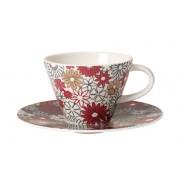 Filiżanka do kawy ze spodkiem Villeroy & Boch Caffe Club Fiori, 220 ml