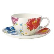 Filiżanka do kawy ze spodkiem Villeroy & Boch Anmut Flowers, 200 ml