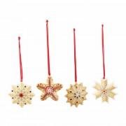 Cztery zawieszki choinkowe Villeroy & Boch Nostalgic Ornaments