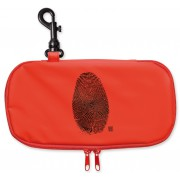 Iris - Lunch bag na kanapkę,podłużny, czerwony