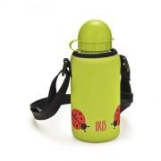 Iris - Butelka z pokrowcem SNACK RICO, zielony