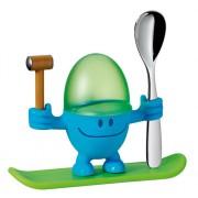WMF - Kieliszek na jajko z łyżeczką, niebieski