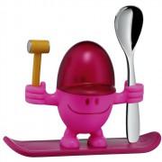 WMF - Kieliszek na jajko z łyżeczką, różowy