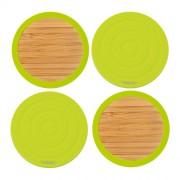 Dwustronne podstawki pod szklanki Contento Tip-Top, zielone