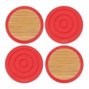 Dwustronne podstawki pod szklanki Contento Tip- Top, czerwone
