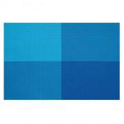 Zestaw czterech podkładek Contento Zarah, niebieskie