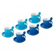 Zestaw 6 kubków do espreeso Contento Intermezzo, niebieskie