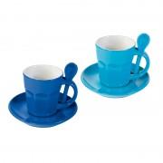 Zestaw dwóch kubków Contento Intremezzo, niebieskie