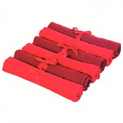 Zestaw sześciu serwetek Contento Jette, czerwone