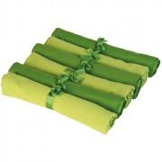 Zestaw sześciu serwetek Contento Jette, zielone