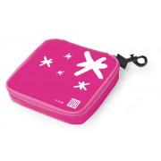 Lunch bag na kanapkę Iris kwadrat, różowy