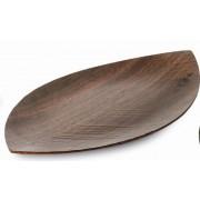 Taca orzechowa Legnoart, Leaf, 33 x 19,5 cm, mała