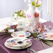 Serwis obiadowy Villeroy & Boch Anmut Flowers dla 12 osób (39 elementów)