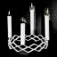 Świecznik adwentowy Rosendahl Grand Cru, srebrny