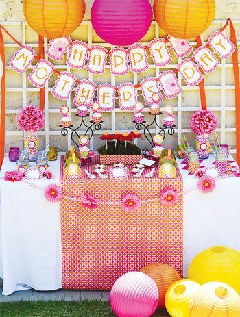dekoracje stolu na dzien matki