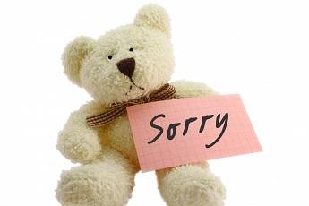 prezent na przeprosiny